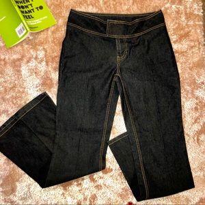 NWOT- BISOU BiSOU Dark Flare Velcro Jeans